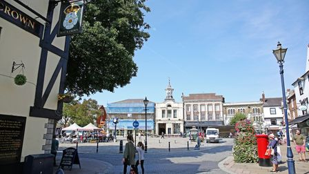 Hitchin's historic Market Place.