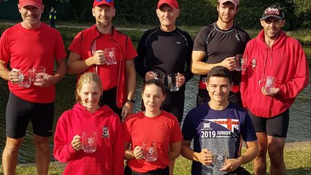 The successful St Ives Rowing Club members at the Cambridge Autumn Regatta. Picture: SUBMITTED