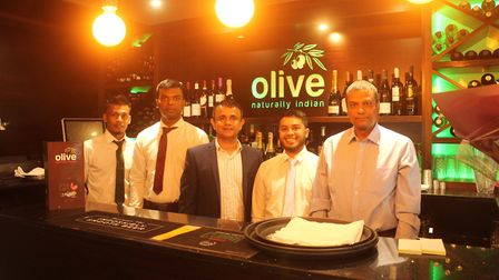 The staff at the new restaurant, Olive, in St Neots. Picture: ARCHANT