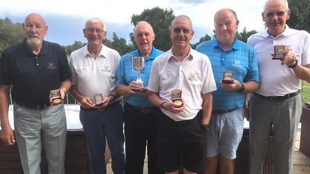 The successful Old Nene team are, from the left, Dave Crouch, Barrie Gibbs, Dennis Ward, Mike Ambros