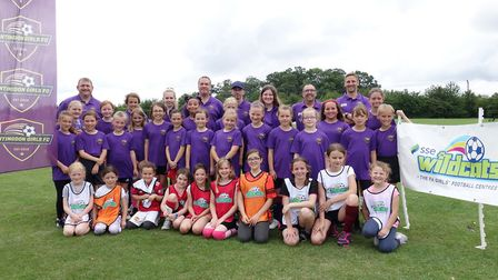 Players and coaches of Huntingdon Girls FC. Picture: SUBMITTED