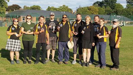 Royston Archery Club's medal-winning members at the county Western Shoot.
