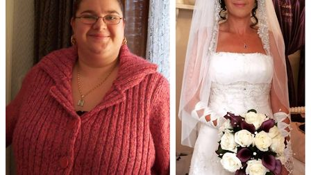 Nancy Bowers has dropped 22st in four and a half years and is now 12stone 10lbs. Picture: Slimming W