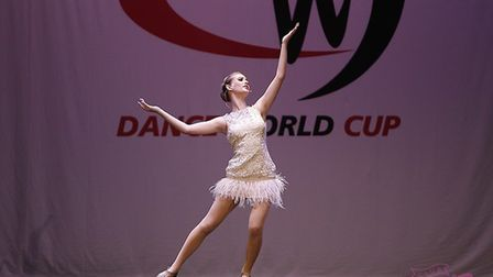 Elise Percy at the Dance World Cup. Picture: Maxine Percy