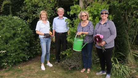 Chrishall has a new gardening club - members include Delyth Turner-Harriss, Steven Parish, Helen Mel