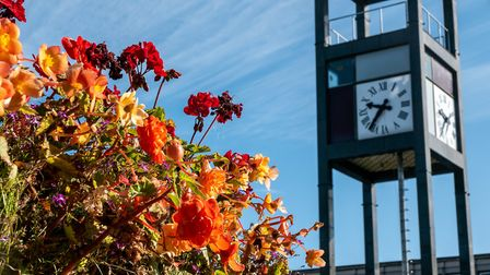 Stevenage's clock tower is Grade II listed. Picture: DANNY LOO