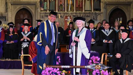 Dame Mary Richardson was given an Honorary Doctorate from the University of Hertfordshire for her wo