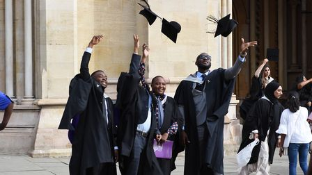 There were more than 17,000 people celebrating the 2019 University of Hertfordshire graduation at St