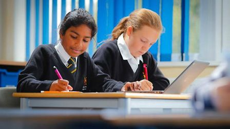 Students at the new King James Academy Royston. Picture: Stuart Thomas