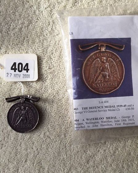 Do you recognise this Waterloo medal issued to John Hamilton of the First Regiment of Lifeguards in