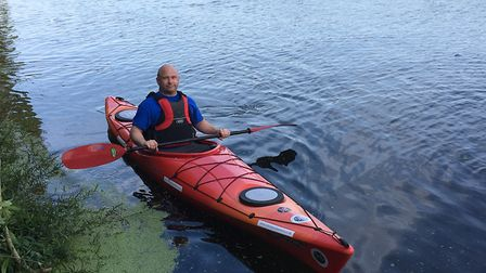 Judd completed his 147-mile kayak challenge for charity. Picture: CONTRIBUTED