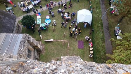 The view from the top of the tower. Picture: St Peter & St Paul, Bassingbourn