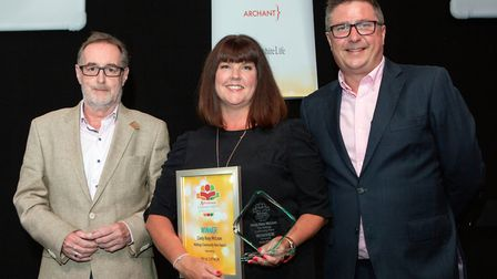 Cindy Reay McLean, Maltings Community Hero Award, presented by The Maltings centre manager Phil Corr