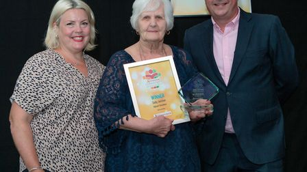 Sally Jarman, Valiant Volunteer of the Year, presented by Archant event manager Sarah Scott Foster.