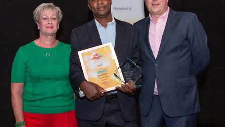 Batsirai Gweza, Carer of the Year, presented by Administrator Tracey Hewitt of B & M Care, Clare Lod