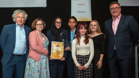 St. Albans Girl School, Charity Champion Award, presented by Councillor Anthony Rowlands. Picture: C