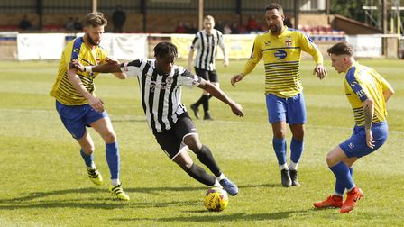 Andrew Osei-Bonsu has left St Ives Town. Picture: LOUISE THOMPSON