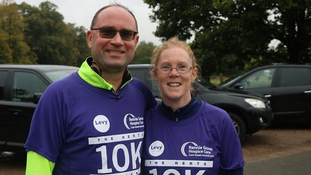 Herts 10K 2019 - Steve Baldwin, pub manager of Water End Barn, ran the 10K after losing 3.5 stone.