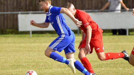 Tom Spark scored twice for Godmanchester Rovers as they beat Ely City. Picture: DUNCAN LAMONT