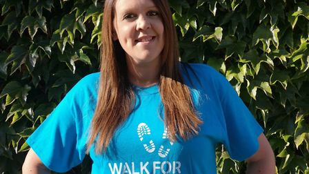 Hannah Gascoyne from Melbourn is taking part in Walk for Parkinson's with her family. Picture: Court