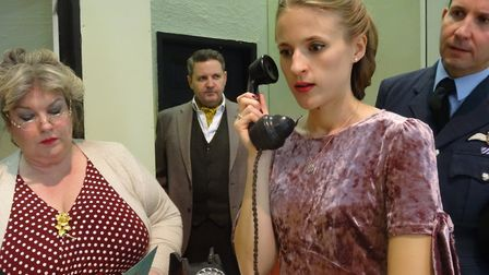 Members of Royston drama group CADS' Flare Path cast. Picture: CADS