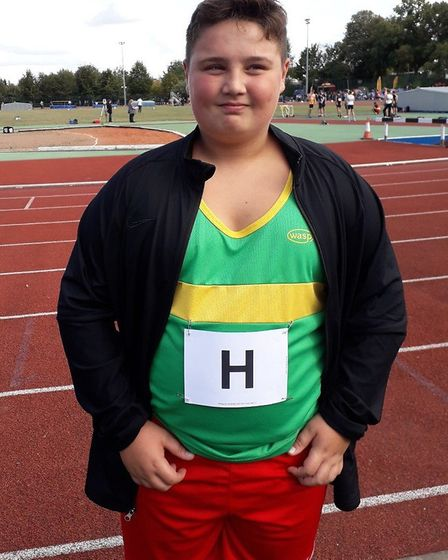 Max Jackson enjoyed victory for Hunts AC at the East Anglian League final. Picture: WAYNE DUBOSE
