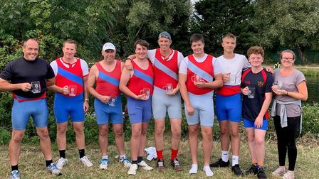 The successful Huntingdon Boat Club coxed eight. Picture: SUBMITTED