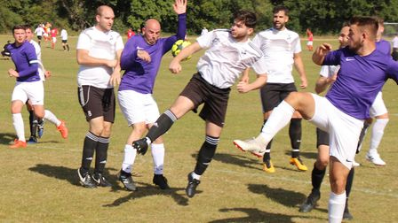 Gate put Welwyn Warriors Res under pressure in the Herts Advertiser Sunday League. Picture: BRIAN HU