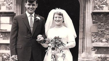 Douglas and Rosemary Gatward married in 1959 in Melbourn. Picture: Courtesy of Jane Ryall