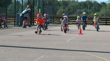 Melbourn Sports Centre held a mini triathlon and duathlon event at the weekend. Picture: Graham John