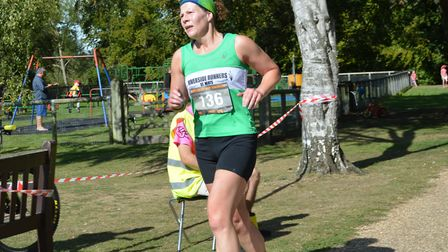 Niki Serjeant was one half of the winning relay duo at the Ouse Valley Way Marathon. Picture: PAUL H