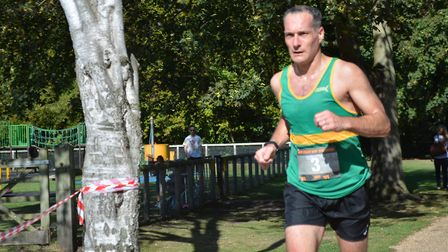 Hunts AC man Richard Adamson finished third in the Ouse Valley Way Marathon. Picture: Picture: PAUL