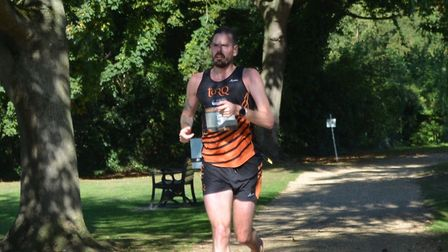 Phil Martin on his way to victory in the Ouse Valley Way Marathon. Picture: Picture: PAUL HOMEWOOD