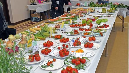 The Alconbury Show produced a huge array of fruit and vegetables