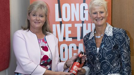 St Albans MP Anne Main and Brigid Simmonds, chief executive of the British Beer & Pub Association, s