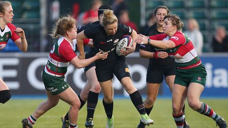 Sarah McKenna in action for Saracens in the Tyrrells Premier 15s. Picture: DANNY LOO