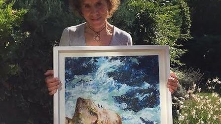 Gina Dunstan was awarded the Challenge Trophy in the St Albans Art Society Summer Art Exhibition 201