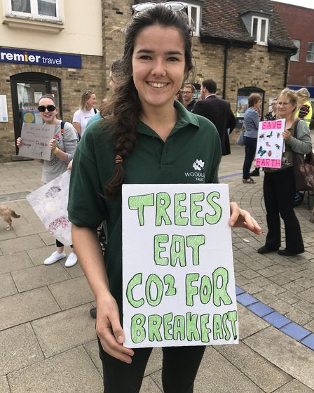 Naomi Tilley supporting the strike today in the High Street