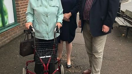Royston's Audrey Dewhurst met with MP Sir Oliver Heald and county councillor Fiona Hill to discuss c