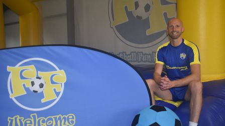 Luke Chadwick is starting a Football Fun Factory venture in South Cambridgeshire. Picture: James Cut