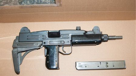 Met police officers found a Uzi sub-machine gun in the bags. Former St Albans City FC player Ralston