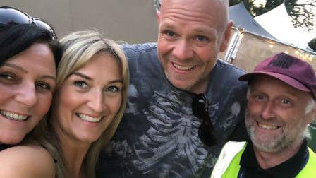 Angie Cronin and Sophie Banks with Tom Kerridge.