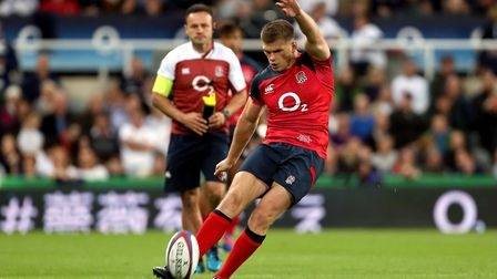 Owen Farrell has been pleased with Englands warm-up against the likes of Italy. Picture: RICHARD SEL