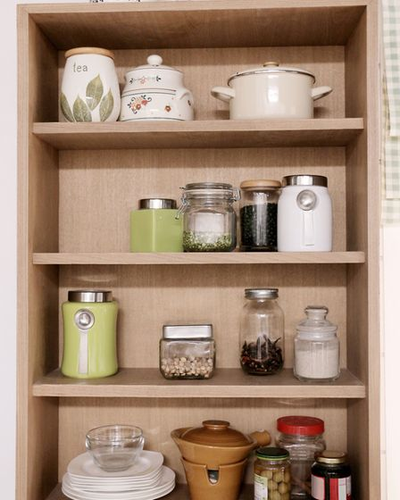 Add extra shelves above your cupboards, or use the tops of your cupboards as extra storage space. Pi
