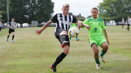 Jon Clements scored both goals as Colney Heath beat Haverhill Rovers in the FA Vase. Picture: KARYN