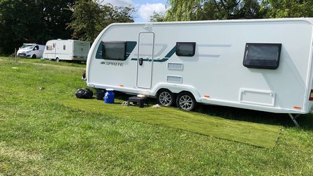 The camp when travellers pulled up on Bernards Heath.