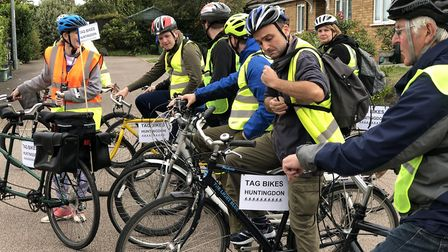 TAG Bikes put theiir cycling skills into practice and help build the confidence of service users wit