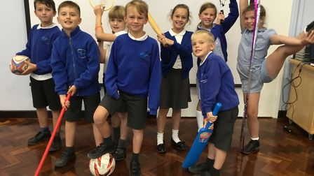 Studlands Rise First School's Year 4 Sports Crew for this year. Picture: Studlands Rise First School