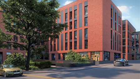 CGI of how the wider CCOS South site is expected to look on completion, from the corner of Civic Clo