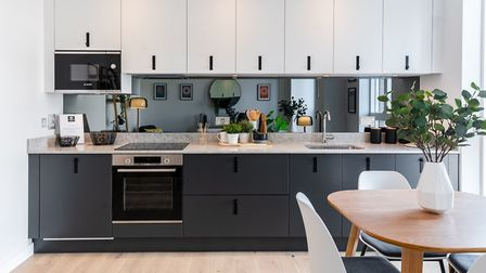The show apartment kitchen at Hertfordshire House. Picture: Angle Property